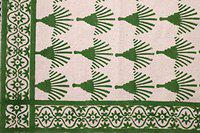 Mat Hand Block Print Cotton Rug Runner Green Color - Carpet for Kitchen , Bedroom, Living Room , Yoga Mat , Pooja Dhurrie - Differnet (6, 2 X 6 Feet)