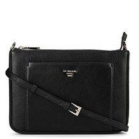 Da Milano Genuine Leather Black Sling Bag for Women