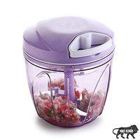 Primelife New Handy Vegetable Chopper in XL Size 900 ML, Big Food Chopper, Compact & Powerful Hand Held Vegetable Chopper/Blender to Chop Fruits and Vegetables - Made in India - Purple (XL-900 ml) .