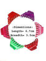 Multi Colour Premium Clips for Women/Girls (Pack of 6)