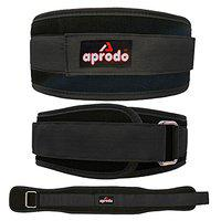 APRODO Multipurpose Weight Lifting Belt for Back Support Comfortable & Durable for Weightlifting, Gym, Workout - 100% Nylon, (4 Inch Wide) for Men and Women (Black, Small 28'' - 32'')