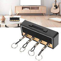 Key Hanger, Strong Key Rack, Sturdy Durable Portable Easy to Install for Office Home(Black)