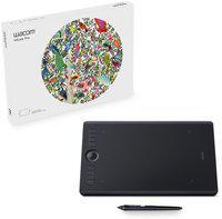 WACOM PTH660/KO-CX intuos pro medium 13.3 x 8.6 inch Graphics Tablet(Black)