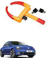 AutoSun ATZ-1495-234 Yellow Anti Theft Car Wheel Tyre Lock Clamp For Volkswagen Beetle Wheel Lock