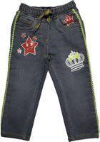 KiddoPanti Regular Girls Grey Jeans