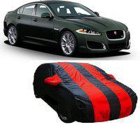 Car Bazaar Car Cover For Jaguar XFR (With Mirror Pockets)(Red, Black)