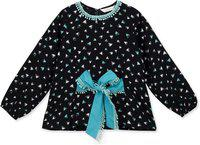 Budding Bees Girls Casual Rayon Top(Multicolor, Pack of 1)
