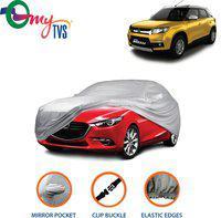 myTvs Car Cover For Maruti Suzuki Vitara Brezza (With Mirror Pockets)(Silver)