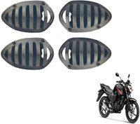 M Mod Con Black Plastic Indicator Grill Cover Bike Headlight Grill(Black)
