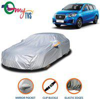 mytvs Car Cover For Datsun Go+ (With Mirror Pockets)(Silver)