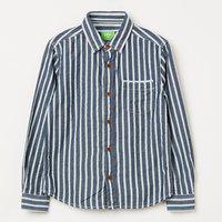 BOSSINI Boys Striped Casual Blue Shirt