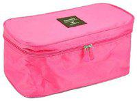 Everbuy Multi Utility Undergarment Pouch for Easy Travelling Portable Lingerie Case for Travel Travel Toiletry Kit(Pink)