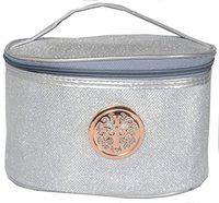 Color Fever Women's Multi Purpose Toiletry Bag Organiser (Silver) Travel Toiletry Kit(Silver)