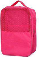 Divinext Travelling Shoe Storage Bag Footwear Organiser Travel Toiletry Kit(Pink)