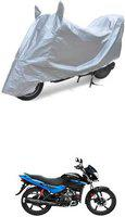 MILLENNIUM Two Wheeler Cover for Hero(Glamour, Silver)