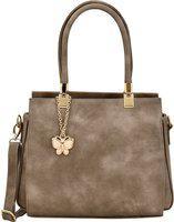 (Butterflies Women Handbag (Grey) (BNS 0717GY)