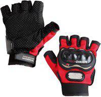 Probiker Protective Half Finger Riding Gloves(Red)