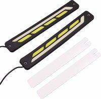 AllExtreme EX-0011 Universal Daytime Running Light Waterproof Flexible LED DRL Driving Lamp for Motorcycles Cars & Bikes Car Fancy Lights(White)