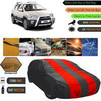 AutoGreat Car Cover For Toyota Etios Cross (Without Mirror Pockets)(Multicolor)