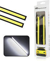 FABTEC EXDLRW1 Universal Daytime Running Light Waterproof Working Lights Car Fancy Lights(White)