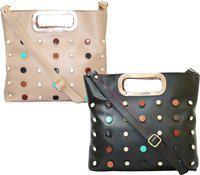 Element Cart Brown, Beige Sling Bag(Pack of 2)