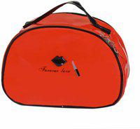 STRIPES Makeup Toiletry Kits & Bags For Women/Girls (Red) Travel Toiletry Kit(Red)