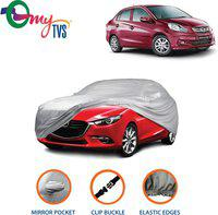 myTvs Car Cover For Honda Amaze (With Mirror Pockets)(Silver)