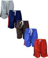Eazy TrendzTM Boys and Girls Side Striped Sports, Casual or Rough Use Polyester Shorts Trousers Combo (Pack of 10)