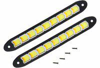 AllExtreme EXDLRWA Universal Daytime Running Light Waterproof Working Lights Flexible LED DRL Driving Lamp for All Bikes and Cars Car Fancy Lights(White)