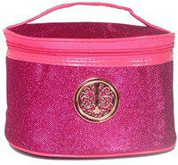 Color Fever Women's Multi Purpose Vanity Case - Pink Travel Toiletry Kit(Pink)