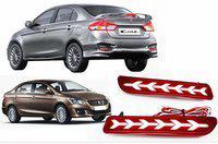 IMMUTABLE Premium Quality Car LED Rear Bumper Drl Brake Light CIAZ T3 Car Reflector Light(Red)