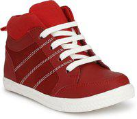 Tuskey Boys Lace Casual Boots(Red)