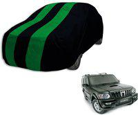 Autyle Car Cover For Mahindra Scorpio (Without Mirror Pockets)(Black, Green)