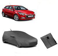 Anmol Car Cover For Hyundai Elite i20 (With Mirror Pockets)(Grey, For 2017 Models)