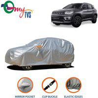 myTvs Car Cover For Jeep Compass (With Mirror Pockets)(Silver)