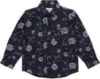 AJ Dezines Baby Boys Floral Print Party Black Shirt