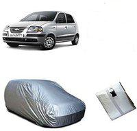 Anmol Car Cover For Hyundai Santro Xing (With Mirror Pockets)(Silver, For 2014 Models)