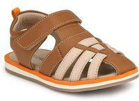 Tuskey Boys Buckle Strappy Sandals(Brown)