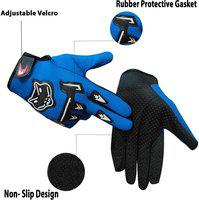 KANDID Full Racing Biking Driving Motorcycle GlovesFor Riders-007 Riding Gloves(Blue)