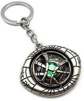 Raj Marvel Avengers Doctor Strange Eye of Agamotto Keychain and Keyring   Key Ring for Car Bike Home Keys   Key Chain for Kids Men Women Boys Girls (Rotating Shield Eye of Agamotto) - Silver Key Chain