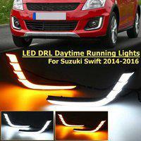 IMMUTABLE LED Daytime Running Light DRL for 2014-2017 D23 Car Reflector Light(Red)