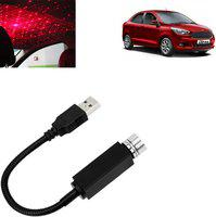Vocado Car Roof Star Night Light Projector Atmosphere Galaxy Lamp For Aspire_SD95 Car Fancy Lights(Red)