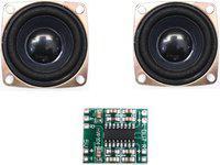 Electronicspices Combo Of PAM8403 (HW-104) 3+3 watts Power Amplifier Board + 4ohm 3W Mini Magnet Speaker PAM8403 + 2 SPEAKER Coaxial Car Speaker(3 W)