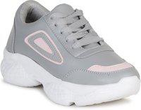 Colo Sneaker Sneakers For Women(Grey, Pink)