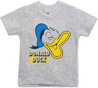 Disney Boys Graphic Print Cotton Jersey T Shirt(Grey, Pack of 1)