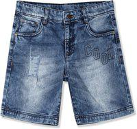 Flying Machine Short For Boys Casual Solid Cotton Blend(Blue, Pack of 1)