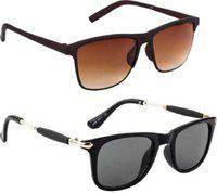 tikna Wayfarer Sunglasses(Black, Brown)