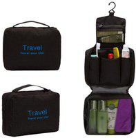 Kanha Travel Your Life Bag Cosmetic Toiletry Storage Bag Travel Toiletry Kit(Black)