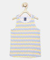 Allen Solly Girls Chevron Polycotton T Shirt(Multicolor, Pack of 1)
