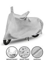 Spidy Moto Two Wheeler Cover for Universal For Bike(Silver)